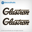 1964 GLASTRON logo decal set sticker for Starflite boat