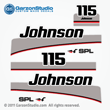 1997 1998 johnson 115 hp SPL outboard decals set