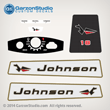 1965 Johnson 18 hp 18HP decal set Decals FD-19 MOTOR COVER