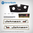 1965 Johnson 6 hp 6HP decal set Decals CD-22 MOTOR COVER