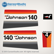Johnson 140 hp v4 decal set 1977