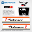 Johnson 4 hp decal set gray/red late 70's made for a Johnson Outboard cowling 1977 custom made, Part Number 388280, JOHNSON 1977 4W77BMOTOR COVER,JOHNSON 1977 4R77B MOTOR COVER