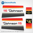 Johnson 1978 140 hp decal set V4 Magflash CD sticker kit replica 388788