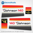 Johnson 1978 140 hp decal set V4 Magflash CD sticker kit replica 388789