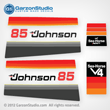 Johnson 1978 85 hp decal set V4 Magflash CD sticker kit replica 388786 388787