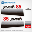 1978 Johnson 85 hp javelin decal set V4 Magflash CD sticker kit replica