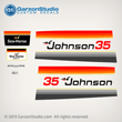 Johnson 1979 35 hp decal set Magflash CD sticker kit replica