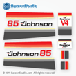 Johnson 1979 85 hp decal set V4 Magflash CD sticker kit replica