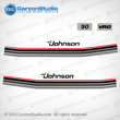 1984 Johnson 90 hp decal set 85 0393973