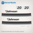 1985 Johnson 20 hp 20hp decal set 0393819