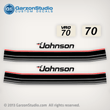 1985 Johnson 70 hp decals 85 0393906 decal set J70ELCOS J70TLCOS