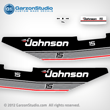 Johnson 1986 15 hp decal set gray 86 decals 0396330 0396331 0396332 decal set J15ECDE J15ELCDE J15RCDE J15RLCDE