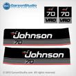 Johnson 1986 70 hp decals 0396336 DECAL SET