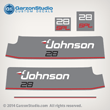 Johnson 1987 1988 1989 28 hp decal set gray decals   J28ESLCCR J28ESLCCR J28ESLCEA J28ESLCUC VJ28ESLCCR VJ28ESLCEA  0398979 0334226 0334227 0398783