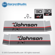 1987 1988 Johnson 30 hp decal set gray decals late 80's