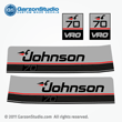 1987 1988 Johnson 70 hp VRO decal set gray late 80's