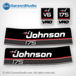 1989 1990 Johnson 175 hp decals vro v6 outboard decal set VRO V6