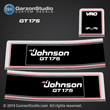 1989 1990 johnson outboard 150 GT150 VRO V6 decal set 0433145 175STL