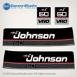 1989 1990 Johnson 60 hp 60hp vro decals outboard decal set