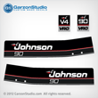 1989 1990 Johnson 90 hp 90hp vro v4 decals outboard decal set