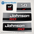 1992 1993 1994 1995 1996 johnson outboard 50 hp decal set decals 0437083 0435630 0437762