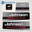 1992 1993 1994 1995 1996 johnson outboard 70hp 70 BACKTROLLER decal set decals 0437083 0435630 0437762