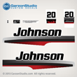 1997 1998 johnson outboard 20 hp decal set decals 0343188 0343190 0343192 20hp 0343189 0343190 0343191