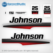 1997 1998 johnson outboard 25 hp decal set decals 0343188 0343190 0343192 20hp 0343189 0343190 034319