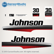 1997 1998 johnson outboard 30 hp decal set decals 0343188 0343190 0343192 20hp 0343189 0343190 034319