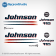 2002 2003 2004 2005 2006 johnson decal set 115 hp 115hp outboards white engine cover