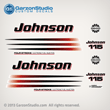 2003 2004 2005 2006 johnson decal set 115 hp 115hp fourstroke four stroke 4 4S outboards white engine cover