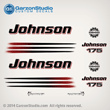 2002 2003 2004 2005 2006 Johnson 175 hp decal set white engine covers outboards