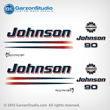 2002 2003 2004 2005 2006 johnson decal set 90 hp 90hp  outboards white engine cover