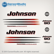 2003 2004 2005 2006 johnson decal set 90 hp 90hp fourstroke four stroke 4 4S outboards white engine cover