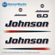 2003 2004 2005 johnson 6 6.0 hp engine decals for 03-05 outboards J6RLSTD J6RSTD  J6RLSRS J6RSRS J6RLSOC J6RSOC