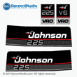 1989 1990 johnson 225 hp decals outboard VRO V6 black decal set