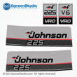 1987 1988 Johnson 225 hp decals VRO V6 gray Outboards Decal set