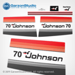 Johnson 1977 70 hp decal set red/black late 70's