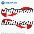 Johnson Outboard Decal Canadian Flag