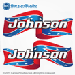 Johnson Outboard Decal Confederate Flag