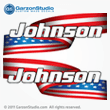 Johnson Outboard Decal American Flag