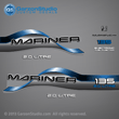 1996 1997 1998 Mariner 135 hp 2.0 LITRE Decal set BLUE decals