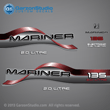 1996 1997 1998 Mariner 135 hp 2.0 litre Decal set red decals
