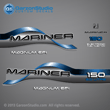 1996 1997 1998 Mariner 150 hp MAGNUM EFI 2.0 Decal set red decals