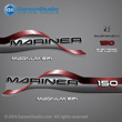 1996 1997 1998 Mariner 150 hp MAGNUM EFI 2.0 litre Decal set red decals