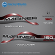 1996 1997 1998 Mariner 150 hp MAGNUM EFI 2.5 litre Decal set red decals