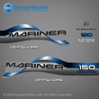 1996 1997 1998 Mariner 150 hp OFFSHORE 2.5 litre Decal set red decals