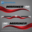 1997 Mariner 90 hp Decal set red decal set 90hp