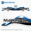 1997 Mariner 60 hp Decal set blue