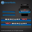 1980 1981 1982 Mercury 140 hp decals decal 140hp